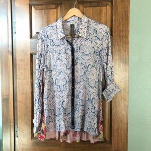 Anthropologie Aratta Silent Journey blouse